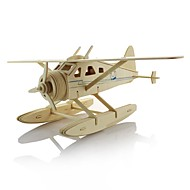 cheap Toys & Hobbies-3D Puzzles Jigsaw Puzzle Model Building Kits Toys Plane / Aircraft Fighter 3D DIY Wooden Children's Boys Pieces