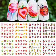 12 Sanat Sticker Nail Kız Çocuk ve Genç Kız DIY Gereçleri Çıkartma Makyaj Kozmetik Sanat Tasarım Nail