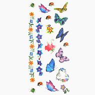 Временные тату Тату с животными Тату с тотемом С рисунком Нижняя часть спины Waterproof Женский Мужской Подростки Вспышка татуировки