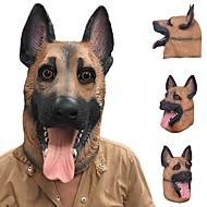 Nuovo freddo cane lupo maschera piena faccia maschera halloween regali eco-friendly natura latte maschera realistica cane testa per