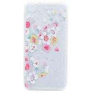 halpa Puhelimen kuoret-HTC Desire 626 suojus läpinäkyvä kuvio takakansi tapauksessa kirsikankukka pehmeä TPU