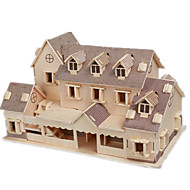 cheap Toy & Game-3D Puzzle Jigsaw Puzzle Wood Model Model Building Kit Famous buildings House DIY Wood Classic Unisex Gift