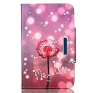 Недорогие Чехлы и кейсы для Galaxy Tab 4 7.0-Кейс для Назначение SSamsung Galaxy Вкладка 9,7 Бумажник для карт Кошелек со стендом Флип Магнитный Чехол одуванчик Твердый Кожа PU для