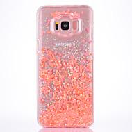 Недорогие Чехлы и кейсы для Galaxy S8-Кейс для Назначение SSamsung Galaxy S8 Plus S8 Движущаяся жидкость Прозрачный С узором Задняя крышка Прозрачный Твердый TPU для S8 S8 Plus