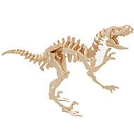 voordelige Speelgoed & Hobby-3D-puzzels Legpuzzel Houten modellen Dinosaurus Vliegtuig Beroemd gebouw Architectuur 3D DHZ Hout Klassiek Unisex Geschenk