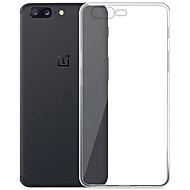 お買い得  携帯電話ケース-ケース 用途 OnePlus クリア バックカバー クリア ソフト TPU のために One Plus 5