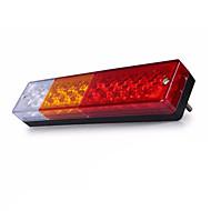 Ziqiao 1pcs 12v impermeabilizan el atv de los 20leds / el carro llevó la lámpara ligera de la cola que invierte luces de freno