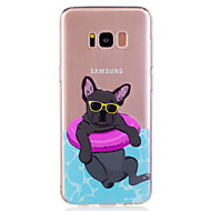 Для samsung galaxy s8 plus s8 phone case tpu материал щенок узор окрашенный телефон кейс s7 край s7 s6 край s6