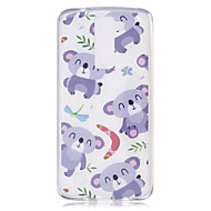 voordelige Mobiele telefoonhoesjes-hoesje Voor LG K8 LG IMD Transparant Patroon Achterkant Panda Zacht TPU voor LG X Power LG Magna H502