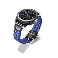 Недорогие Часы для Samsung-Ремешок для часов для Gear S3 Frontier Gear S3 Classic Gear S3 Classic LTE Samsung Galaxy Классическая застежка Натуральная кожа Повязка