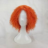 Női Szintetikus parókák Sapka nélküli Rövid Kinky Curly afro Narancssárga Jelmez paróka jelmez paróka