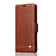 Case for Samsung Galaxy Note 8 Cover Card Holder  Wallet with Stand Flip Full Body Case Solid Color Hard Retro Lines PU Leather for Samsung