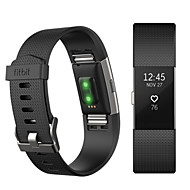 Недорогие Аксессуары для смарт-часов-Ремешок для часов для Fitbit Charge 2 Fitbit Спортивный ремешок Фторэластомер Повязка на запястье