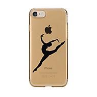 Недорогие Кейсы для iPhone 8-Кейс для Назначение Apple iPhone X iPhone 8 Прозрачный С узором Кейс на заднюю панель Соблазнительная девушка Мягкий ТПУ для iPhone X