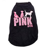 お買い得  -ネコ 犬 Tシャツ 犬用ウェア 文字&番号 ブラック コットン コスチューム ペット用 男性用 女性用 ファッション
