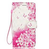 Θήκη για huawei p10 p10 lite τηλέφωνο υπόθεση 3d εφέ πεταλούδα λουλούδι πρότυπο pu υλικό πορτοφόλι τμήμα τηλέφωνο περίπτωση p9 lite p8