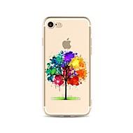 Caso para el iphone 7 más 7 cubra el caso transparente de la contraportada del patrón del caso árbol suave del gradiente tpu para el