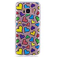 Чехол для samsung galaxy s8 s8 плюс чехол чехол сердце узор окрашенный высокий проникающий тп материал imd процесс мягкий чехол телефон
