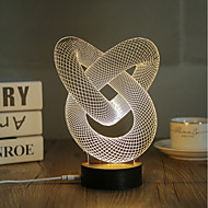 1 Set, Popular Home Acrylic 3D Night Light LED Table Lamp USB Mood Lamp Gifts, Ring