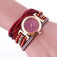 tanie Modne zegarki-Damskie Modny Zegarek na bransoletce Unikalne Kreatywne Watch Sztuczny Diamant Zegarek Chiński Kwarcowy sztuczna Diament PU Pasmo Urok Na