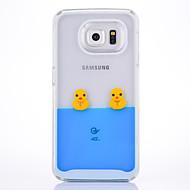 Недорогие Чехлы и кейсы для Galaxy S-Кейс для Назначение SSamsung Galaxy Движущаяся жидкость Кейс на заднюю панель 3D в мультяшном стиле Твердый ПК для S6 edge S6