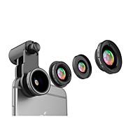 Mobiltelefon linse cpl linse med filter fish-eye linse 120 vidvinkel linse 10x makro objektiv aluminium legering glas til android iphone