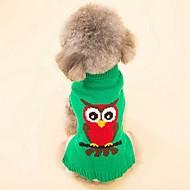 abordables Disfraces de Navidad para mascotas-Gato Perro Abrigos Suéteres Navidad Ropa para Perro Animal Rojo Verde Espándex Algodón / Mezcla de Lino Disfraz Para mascotas Fiesta