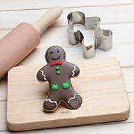 お買い得  キッチン用小物-chritsmas gingermanクッキーカッターステンレスビスケットケーキ金型キッチンベーキングツール