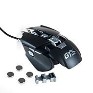 ハイエンド4000 dpiの有線ゲームマウスマクロの定義調整可能な追加重量部分のUSBマウスマウスの機械的な金属