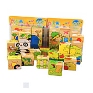 cheap Toys & Hobbies-3D Puzzles Jigsaw Puzzle Educational Toy Toys Cat Animals Animals Wooden Wood Not Specified Children's Pieces