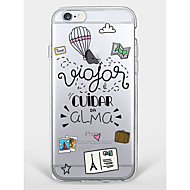 Case for iPhone 7 Plus iPhone 6 Word/Phrase Cartoon Pattern Phone Soft Shell for iPhone 7 iPhone6/6s Plus iPhone6/6s iPhone5 5s SE