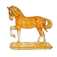 cheap Toys & Hobbies-3D Puzzles Jigsaw Puzzle Crystal Puzzles Toys Dog Tower Horse Bear Animal 3D Plastics Iron Unisex Pieces