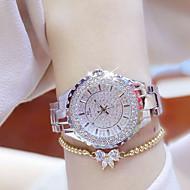 สำหรับผู้หญิง นาฬิกาหรู นาฬิกาใส่ลำลอง นาฬิกาสร้อยข้อมือ นาฬิกาอิเล็กทรอนิกส์ (Quartz) สแตนเลส เงิน / ทอง กันน้ำ Creative เรืองแสง ระบบอนาล็อก สุภาพสตรี เสน่ห์ ความหรูหรา ไม่เป็นทางการ กำไล -