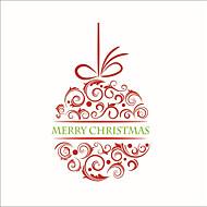 Karácsony Romantika Ünneő Falimatrica Repülőgép matricák Dekoratív falmatricák,Papír Anyag lakberendezési fali matrica
