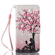 Fall für Apfel ipod touch 5 touch 6 Fall Abdeckung Kartenhalter Brieftasche mit Standfuß Muster Vollkörper Fall Baum hart PU Leder