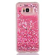 halpa Galaxy S -sarjan kotelot / kuoret-Etui Käyttötarkoitus Samsung Galaxy S8 Plus S8 Virtaava neste Läpinäkyvä Kuvio Takakuori Sydän Kimmeltävä Pehmeä TPU varten S8 S8 Plus S7