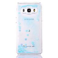 Кейс для samsung galaxy j710 j510 кейс для чехлов снежинка образец текущая жидкость блеск pc materia phone case