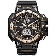 Недорогие Фирменные часы-SMAEL Муж. Кварцевый Цифровой электронные часы Спортивные часы Японский Секундомер Защита от влаги Фосфоресцирующий Хронометр Ударопрочный
