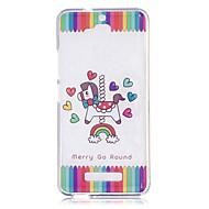 olcso Mobiltelefon tokok-Case Kompatibilitás Asus ZenFone Max ZC550KL Asus Átlátszó Minta Fekete tok Egyszarvú Puha TPU mert Asus Zenfone 3 Max ZC520TL