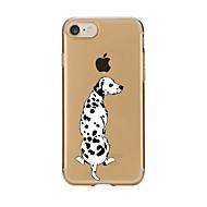 Недорогие Сегодняшнее предложение-Кейс для Назначение Apple iPhone 7 / iPhone 7 Plus Прозрачный / С узором Кейс на заднюю панель С собакой Мягкий ТПУ для iPhone 7 Plus / iPhone 7 / iPhone 6s Plus