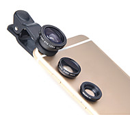 lieqi lq-011 전화 렌즈 어안 렌즈 와이드 앵글 렌즈 매크로 렌즈 알루미늄 10 배 휴대폰 카메라 렌즈 키트, 삼성 안드로이드 스마트 폰 iphoned