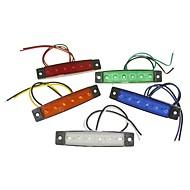 halpa -SENCART 1 Kappale Avolava / Moottoripyörä / Auto Lamput 1.5W SMD LED 120lm 6 Ulkovalot For Universaali Kaikki vuodet