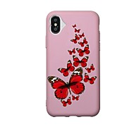 Недорогие Кейсы для iPhone 8-Назначение iPhone X iPhone 8 Чехлы панели С узором Задняя крышка Кейс для Бабочка Мягкий Термопластик для Apple iPhone X iPhone 8 Plus