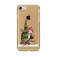 Назначение iPhone 7 iPhone 7 Plus Чехлы панели Ультратонкий Прозрачный С узором Задняя крышка Кейс для Рождество Мягкий Термопластик для