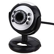 webcam cámara pc con puerto usb soporte ajustable micrófono incorporado control de volumen control de luz