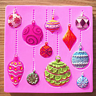 jul ornament silikone skimmel diy fondant kage chokolade skimmel emboss fræser candy værktøjer