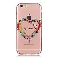 Назначение iPhone X iPhone 8 Чехлы панели Ультратонкий Прозрачный С узором Задняя крышка Кейс для С сердцем Мягкий Термопластик для Apple