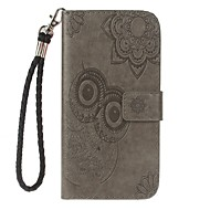 hoesje voor Samsung Galaxy Note 8 Houder Portemonnee Met Stand Flip Embossed Pattern Full Body Hoes Uil Hard Pu Leather