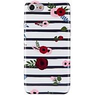 Назначение iPhone X iPhone 8 Чехлы панели Ультратонкий С узором Задняя крышка Кейс для Полосы / волосы Цветы Мягкий Термопластик для Apple