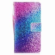 Недорогие Чехлы и кейсы для Galaxy A3(2017)-Кейс для Назначение SSamsung Galaxy A5(2017) A3(2017) Бумажник для карт Кошелек Флип Магнитный С узором Чехол Градиент цвета Сияние и